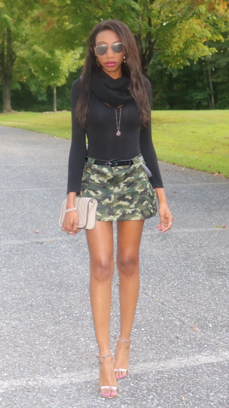 bc6ab929a386a How cute is this camo skirt outfit. I got this skirt while in high school  and never wore it until now. It is so cute and different, ...